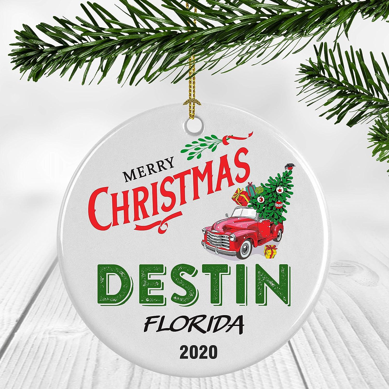 Christmas In Destin Florida 2020 Amazon.com: Winter Holiday Keepsake Gift   Christmas Ornament 2020