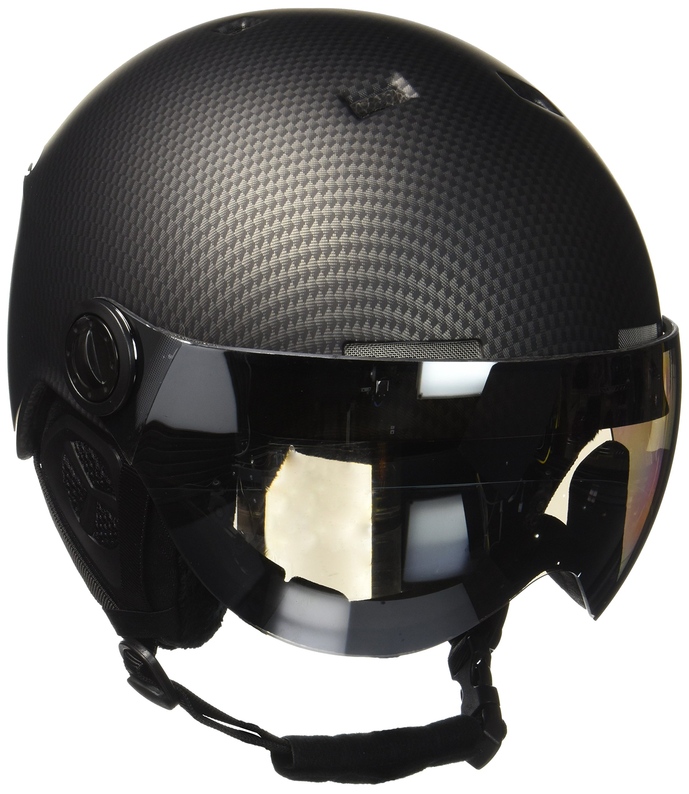 Black Crevice Skihelm - Casco de esquí, color Negro Carbon/Blanco (Black Carbon/White), talla M/L (58-61 cm)