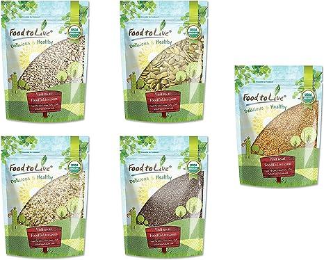 Semillas Orgánicas Omega-3 en una caja de regalo - un paquete ...