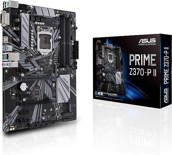 Asus Prime Z370-P II GA1151 (Intel 9th Gen) DDR4 HDMI DVI M.2 Z370 II ATX Motherboard with Gigabit LAN and USB 3.1