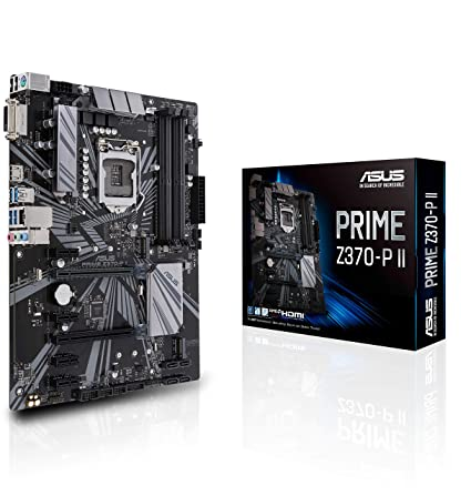 Amazon.com: ASUS Prime Z370-P II GA1151 (Intel 9th Gen) DDR4 HDMI DVI M.2 Z370 II ATX Motherboard with Gigabit LAN and USB 3.1: Computers & Accessories