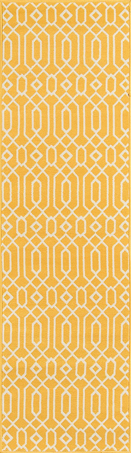 Easy to Clean UV protected /& Fade Resistant Orange 2/'3 x 7/'6 Runner Inc DROPSHIP Momeni Rugs BAJA0BAJ-3ORG2376 Baja Collection Contemporary Indoor /& Outdoor Area Rug 23 x 76 Runner
