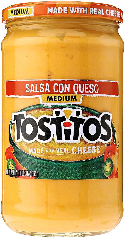 Tostitos Salsa Con Queso - Medium, 23 Ounce
