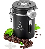 Coffee Canister - Star Coffee Container Stainless Steel Airtight Coffee Storage for Beans or Ground Coffee - with…