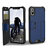 URBAN ARMOR GEAR UAG Folio iPhone Xs/X [5.8-inch Screen] Metropolis Feather-Light Rugged [Cobalt] Military Drop Tested iPhone Case