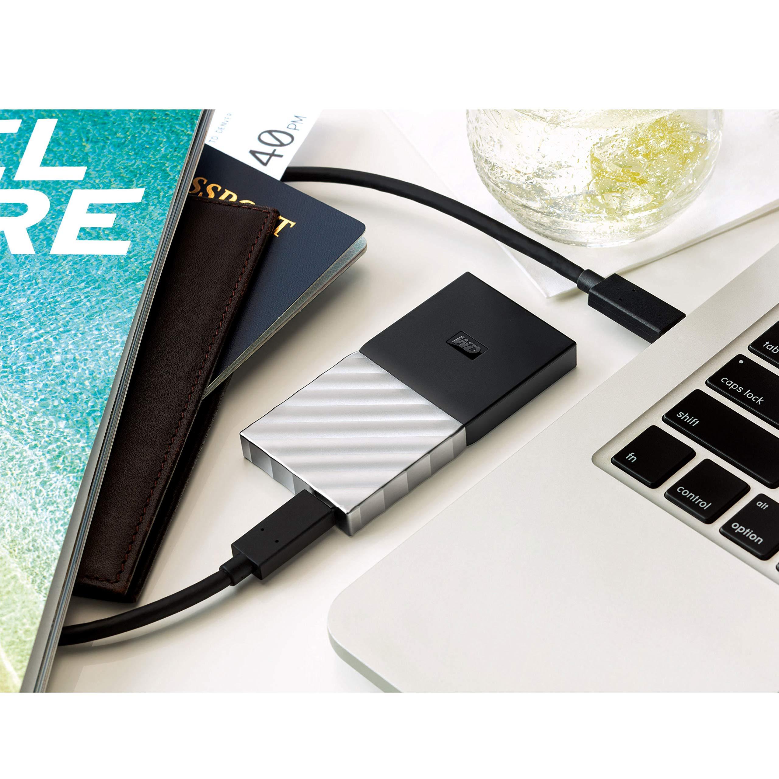 WD 2TB My Passport SSD Portable Storage - USB 3.1 - Black-Gray - WDBKVX0020PSL-WESN by Western Digital (Image #4)