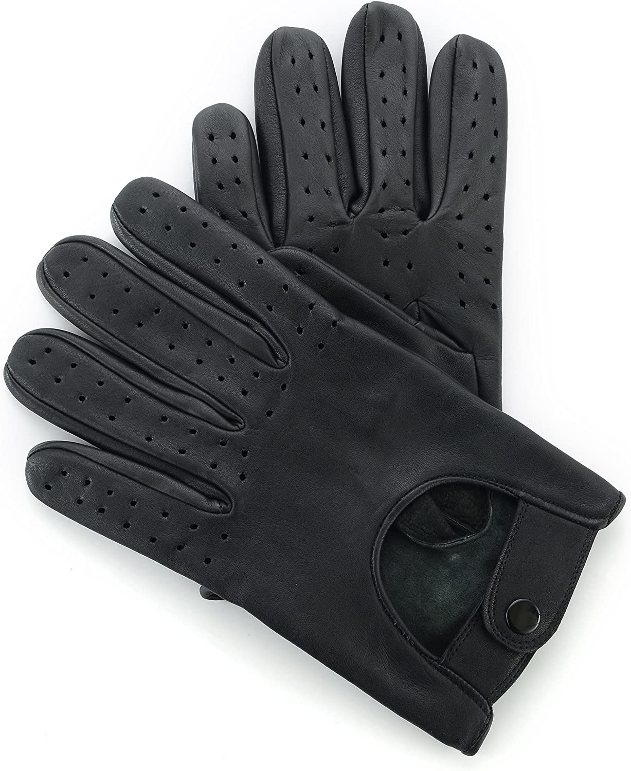 MENS CLASSIC DRIVING GLOVES SOFT GENUINE REAL LAMBSKIN LEATHER TAN DARK BROWN