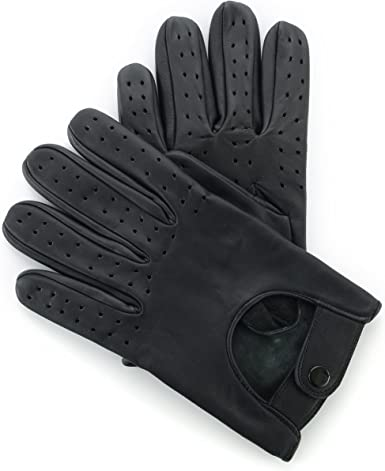 MENS CLASSIC DRIVING GLOVES SOFT CHAUFFEUR REAL LAMBSKIN LEATHER RETRO WINTER UK