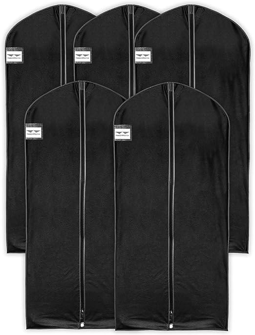 54/ hangermaster vestido//abrigo fundas 137/cm /3/unidades negro transpirable funda protectora y bolsa/