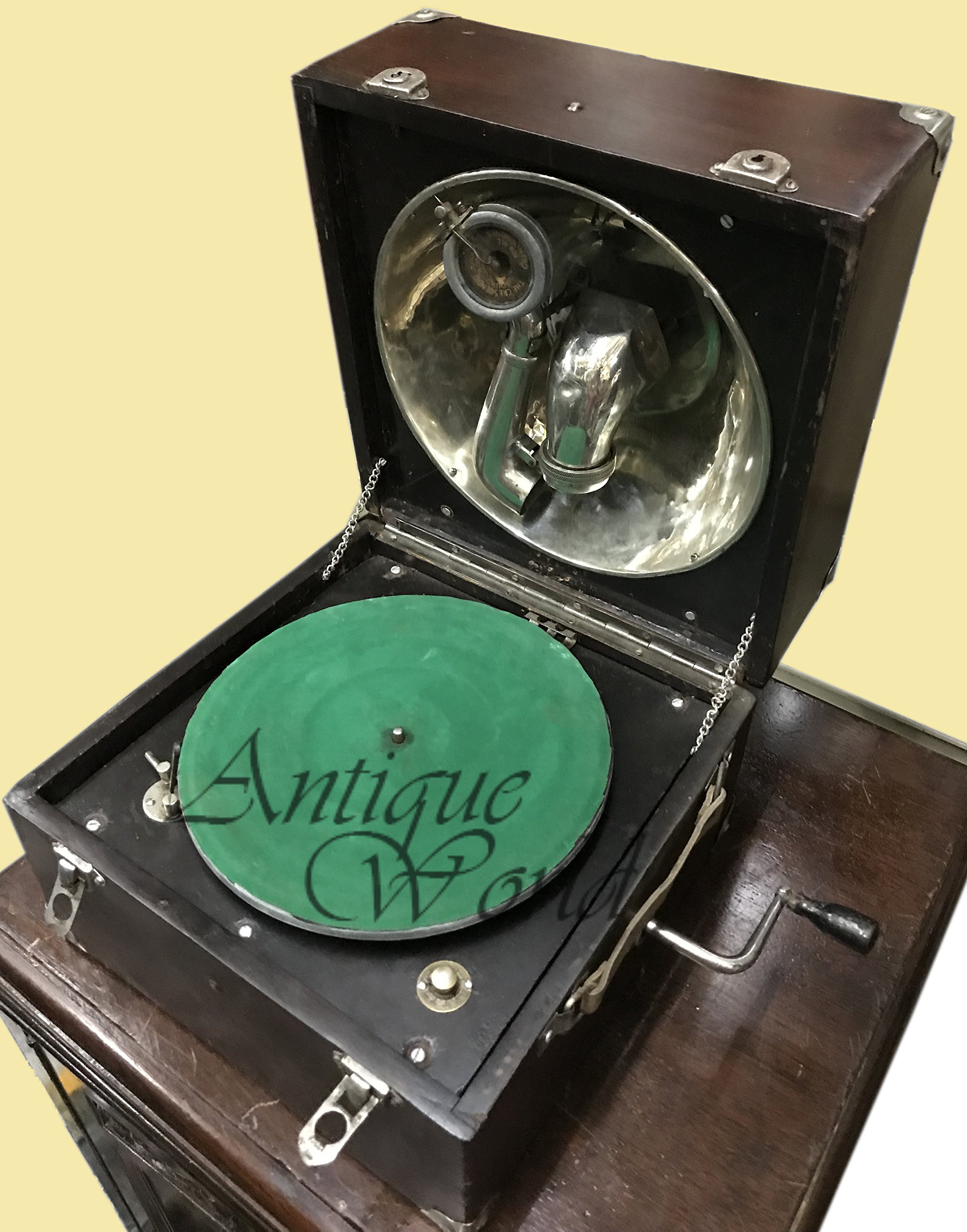 Antiques World Antique Turntable Home Decor Music Box Desk Decca Gramophone Phonograph AWUSAHB 0144