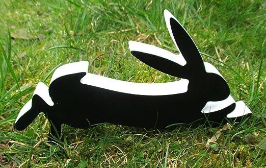 No Conejo Jardín Figura Madera Decoración Jardín Jardín Pascua Pascua: Amazon.es: Juguetes y juegos