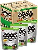 【Amazon.co.jp 限定】ザバス(SAVAS) ソイプロテイン100 ココア味 【50食×3個パック】 3,150g (景品付き)