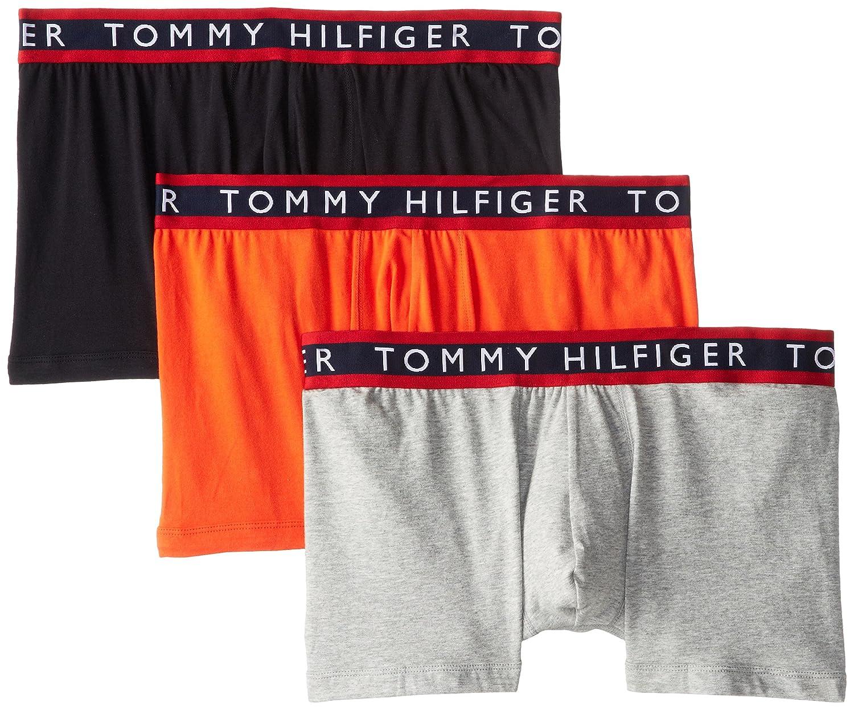TOMMY HILFIGER (トミーヒルフィガー) ボクサーパンツ 3枚セット 09T0963 B00KQFEOAG 3L ブラック/グレー/オレンジ ブラック/グレー/オレンジ 3L