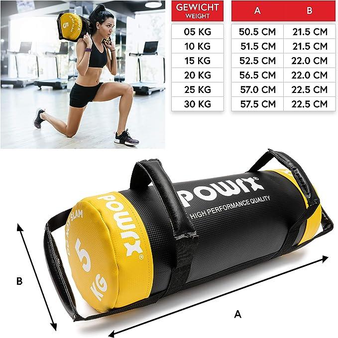 Fitness B/úlgaro Power Bag Entrenamiento deportivo Boxeo Perforaci/ón Sacos de arena vac/íos OhhGo Bolsa de arena 5-25 kg