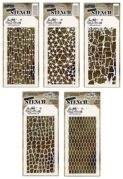 Tim Holtz Layering Stencil Organic Stencil ths106 Stampers Anonymous