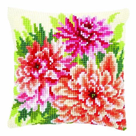 Amazon.com: Vervaco – Kit para cojín de Pink Dahlias Kit de ...