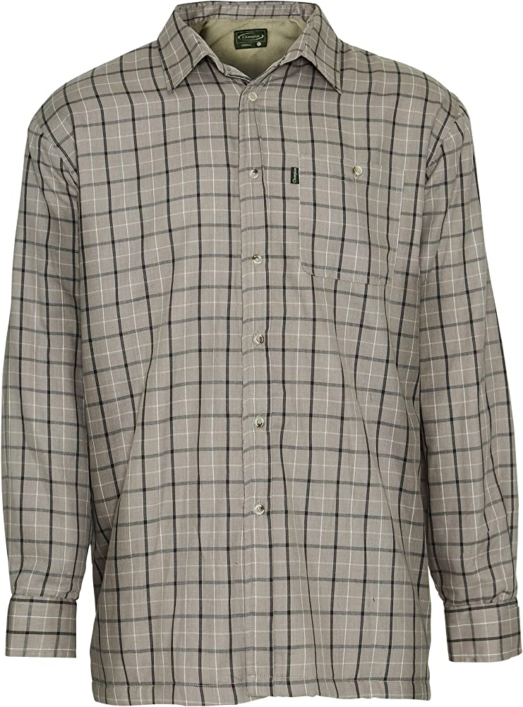 Champion Mens Milton Long Sleeve Micro Fleece Lined Winter Shirt (Taupe) 2XL: Amazon.es: Ropa y accesorios