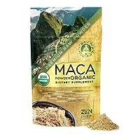Maca Powder Organic - Peruvian Premium Grade Superfood (Raw) - USDA & Vegan Certified - 226.7g (8oz) - Perfect for Breakfast, Smoothies, Baking & Ice Cream.