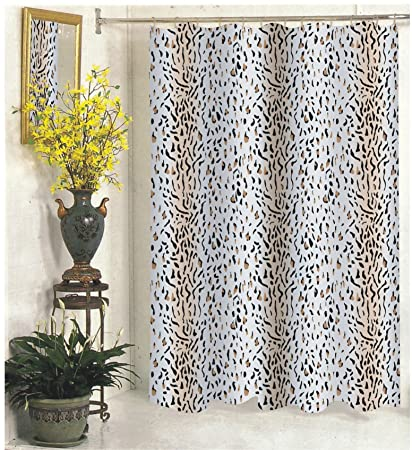 Royal Bath Wild Selva Panther Design Extra Long Fabric Shower Curtain Size 70quot