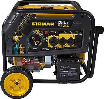 Firman H08051 10000/8000 Watt Electric Start Dual Fuel Portable Generator