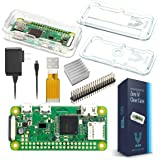 Raspberry Pi Zero W Basic Starter Kit-- Clear Case Edition--Includes Pi Zero W -Power Supply & Premium Clear Case