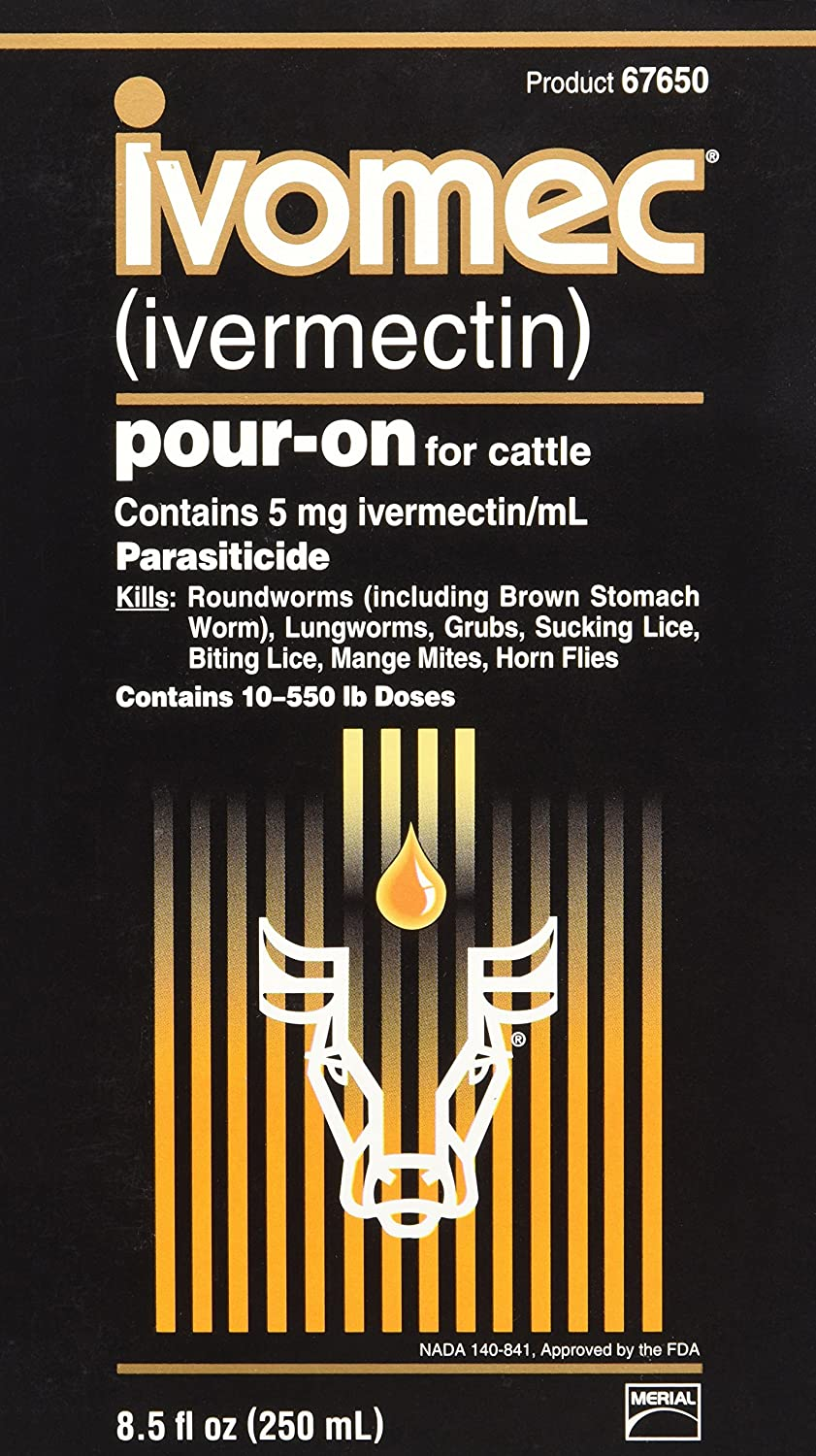 047894 Ivomec Parasiticide Pour-on for Cattle, 250Ml Prime Pet Deals - Code 1 67649