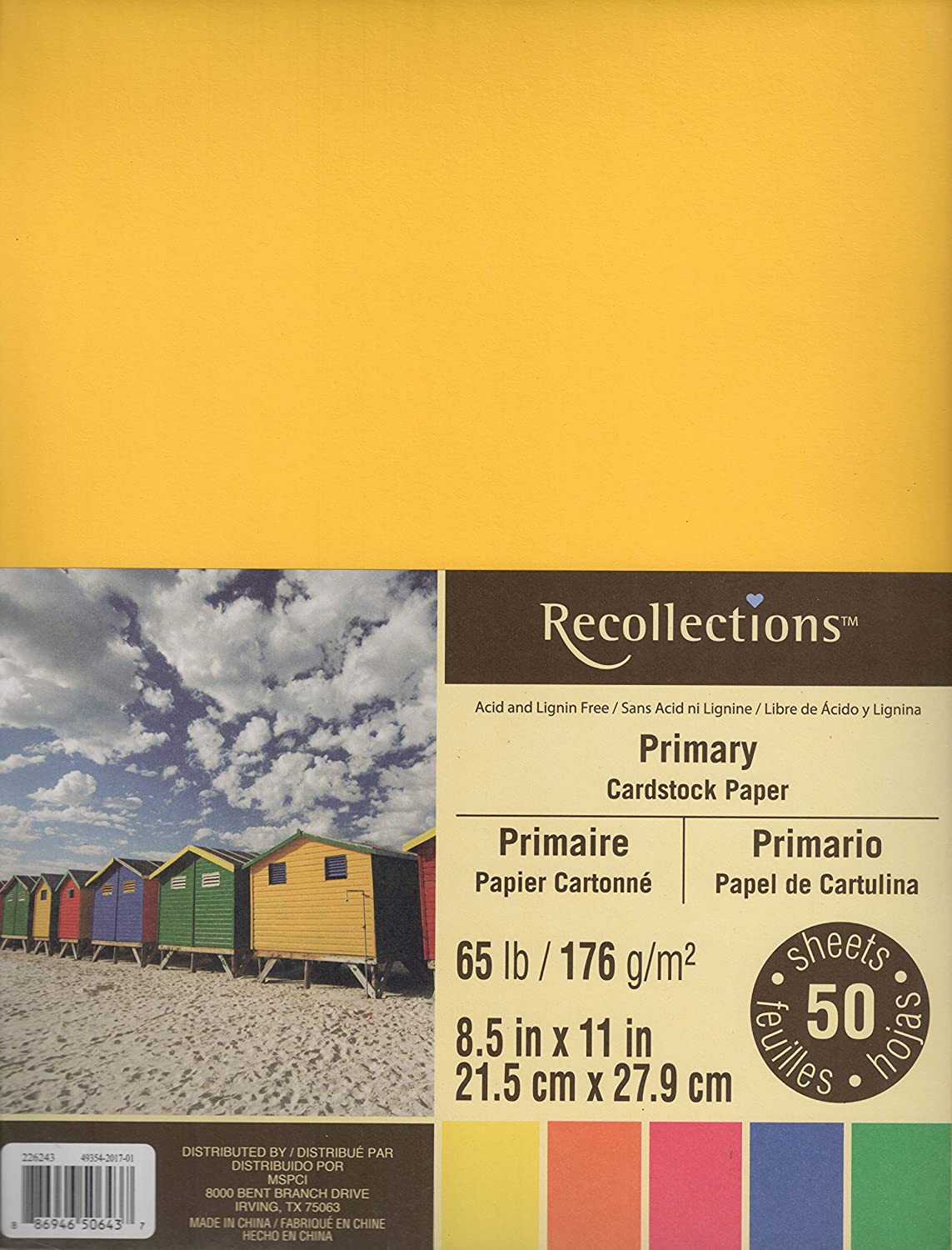 Gold color cardstock paper 5x7 - Recollections Cardstock Paper 8 1 2 X 11 Primary Colors 50 Sheets