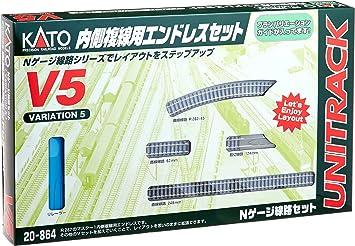 V5 Kato Unitrack Inner Oval Track Set N Gauge 20-864