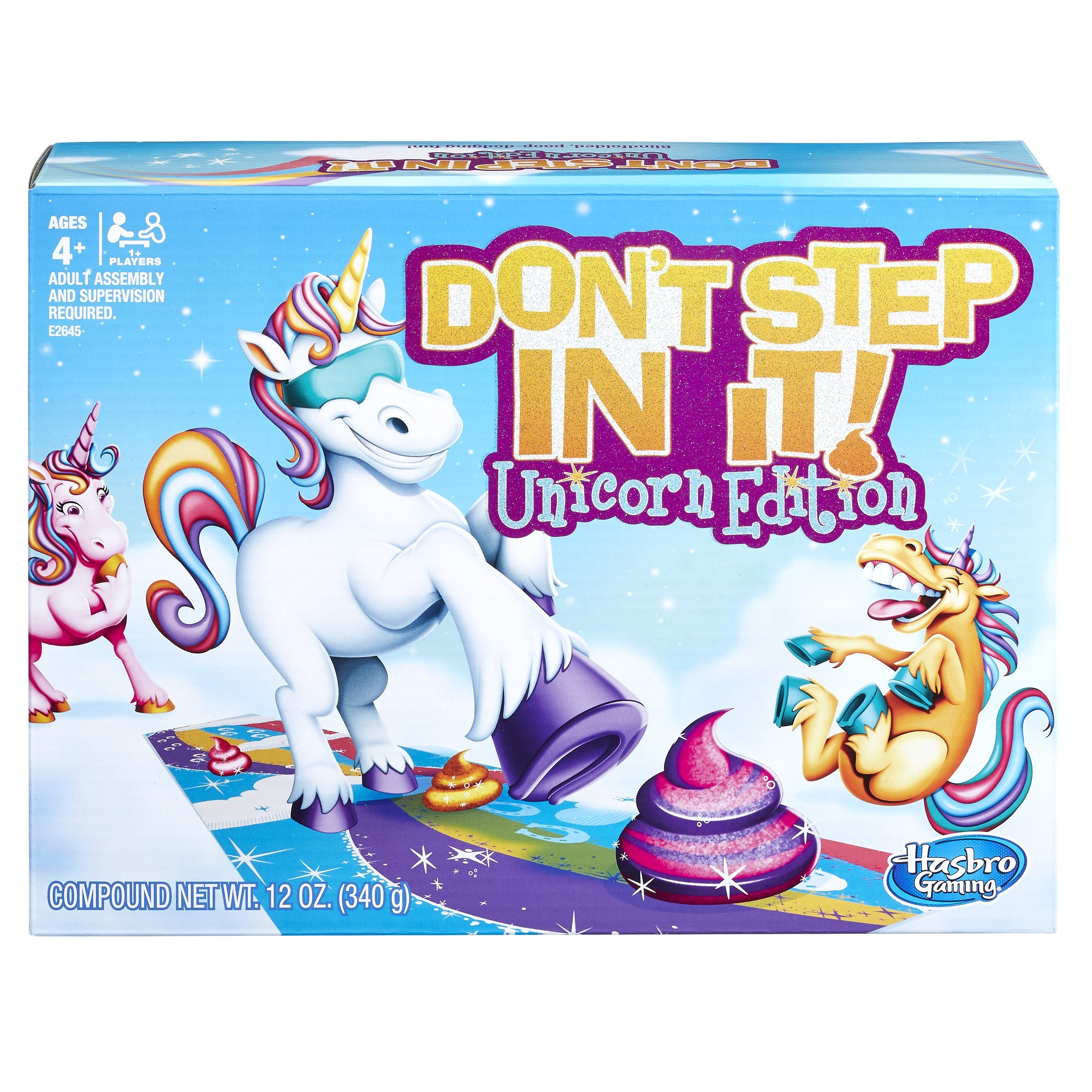 Hasbro Gaming Don't Step In It Game, Unicorn Edition (Amazon Exclusive) by Hasbro Gaming