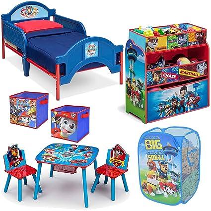 Nickelodeon Delta Children Nick Jr Paw Patrol 8-Piece Furniture Set - Plastic Toddler Bed  sc 1 st  Amazon.com & Amazon.com: Nickelodeon Delta Children Nick Jr Paw Patrol 8-Piece ...