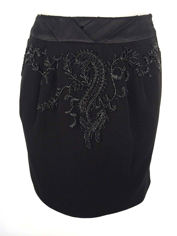 Karen Millen Black Tailored Mini Beaded Skirt