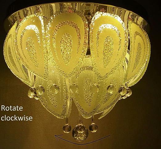 Buy 500 mm led jhoomer ceiling light decorative led chandelier with 500 mm led jhoomer ceiling light decorative led chandelier with three color and sound system 5 aloadofball Image collections