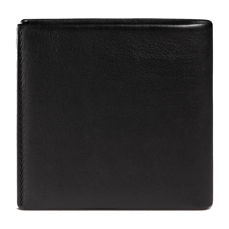 33945e46a4d Amazon.com  Gucci Men s Studded Leather Bi-fold Wallet 387455 1000 (Black)   Clothing