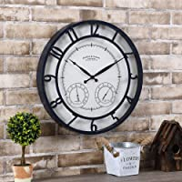 FirsTime & Co. Navy Laguna Outdoor Clock, American Crafted, Distressed Navy Blue, 18 x 2 x 18 ,