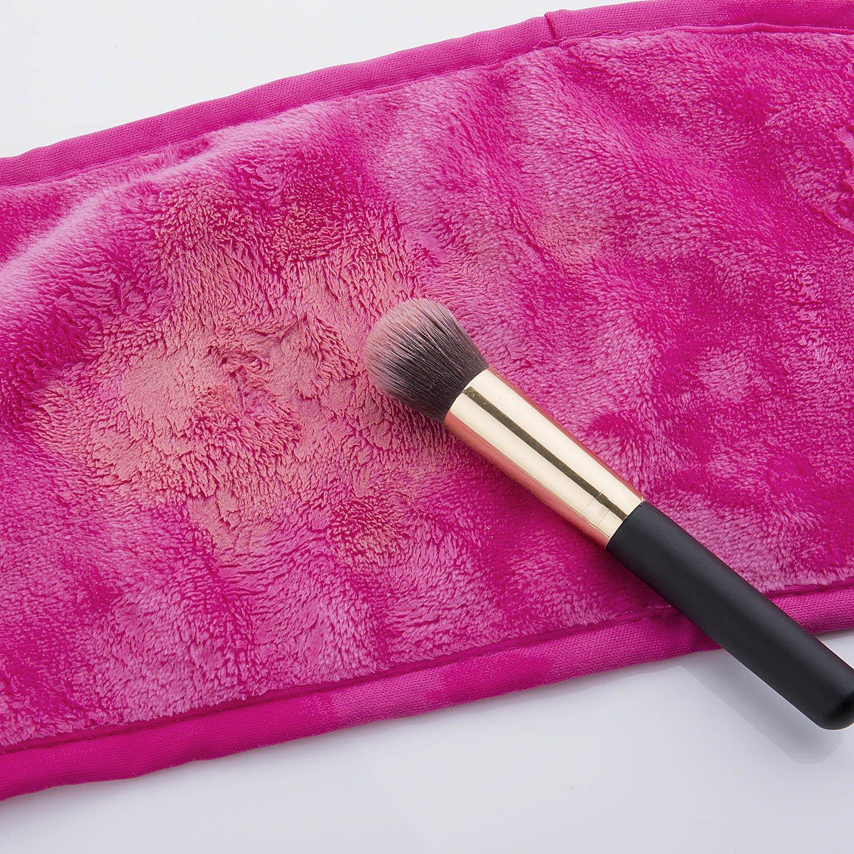 Toallitas para desmaquillaje, Meersee Toalla de Microfibra desmaquillante borrador del paño de limpieza elimina el maquillaje con agua,Pack de 2 ...