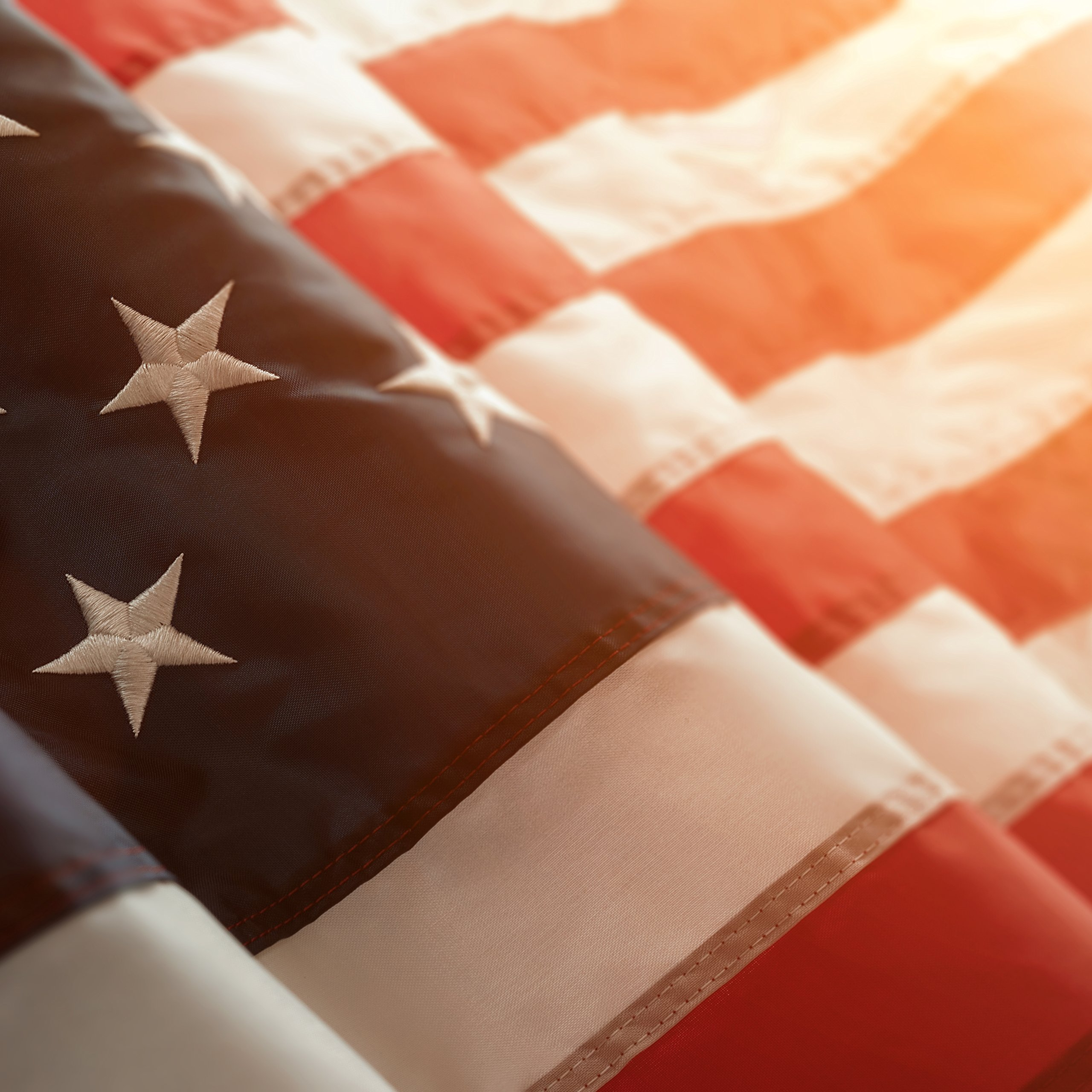 Deneve Outdoor American Flag, American Made 4x6 Ft. US Flag, Made In Midwest USA, With Embroidered Stars, Sewn Stripes, Brass Grommets Does Not Include Flag Pole