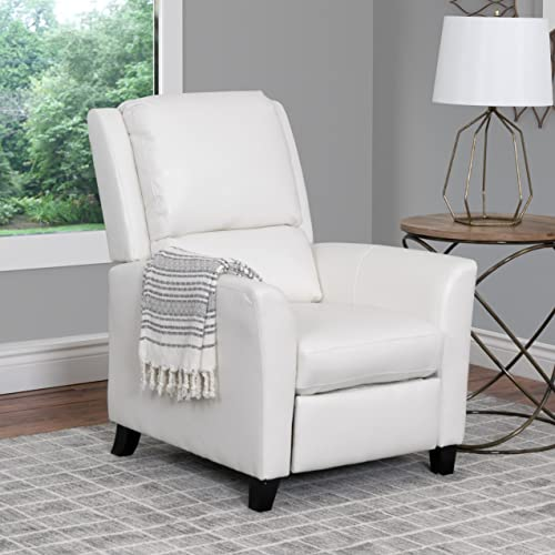 CorLiving Kate Leather Recliner White
