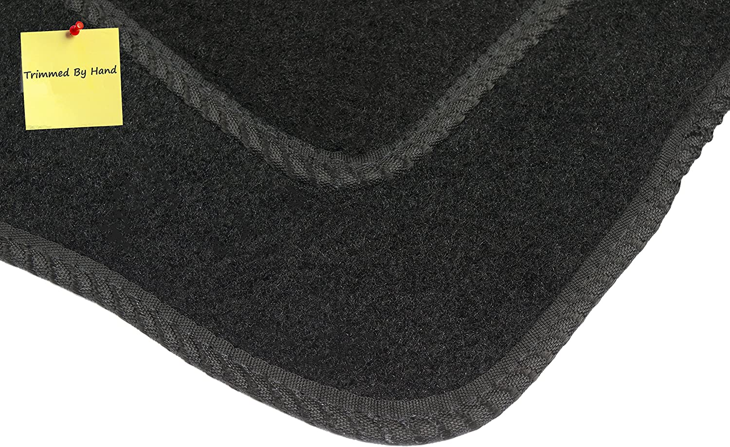 Connected Essentials Tailored Custom Fit Car Mats for 6 Series Car Mat Set Black with Grey Trim 2012-
