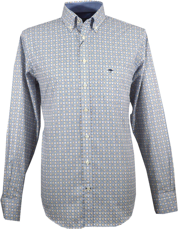 Fynch Hatton Camisa Hombre 1219-6150 6151 - Mostaza: Amazon ...