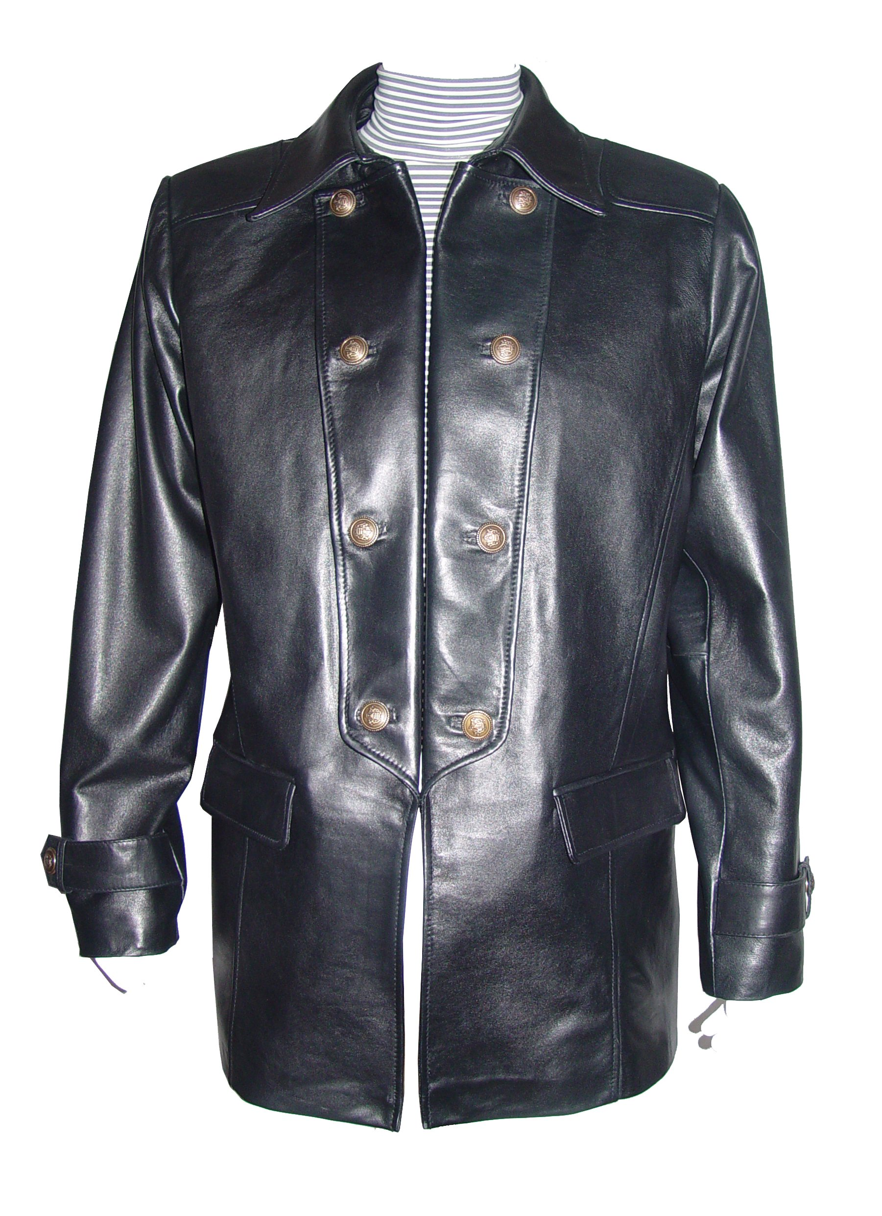 Nettailor Tall Big Man 1070 BIG TALL Size 4 Season Leather Fancy Casual Blazer by NETTAILOR (Image #7)