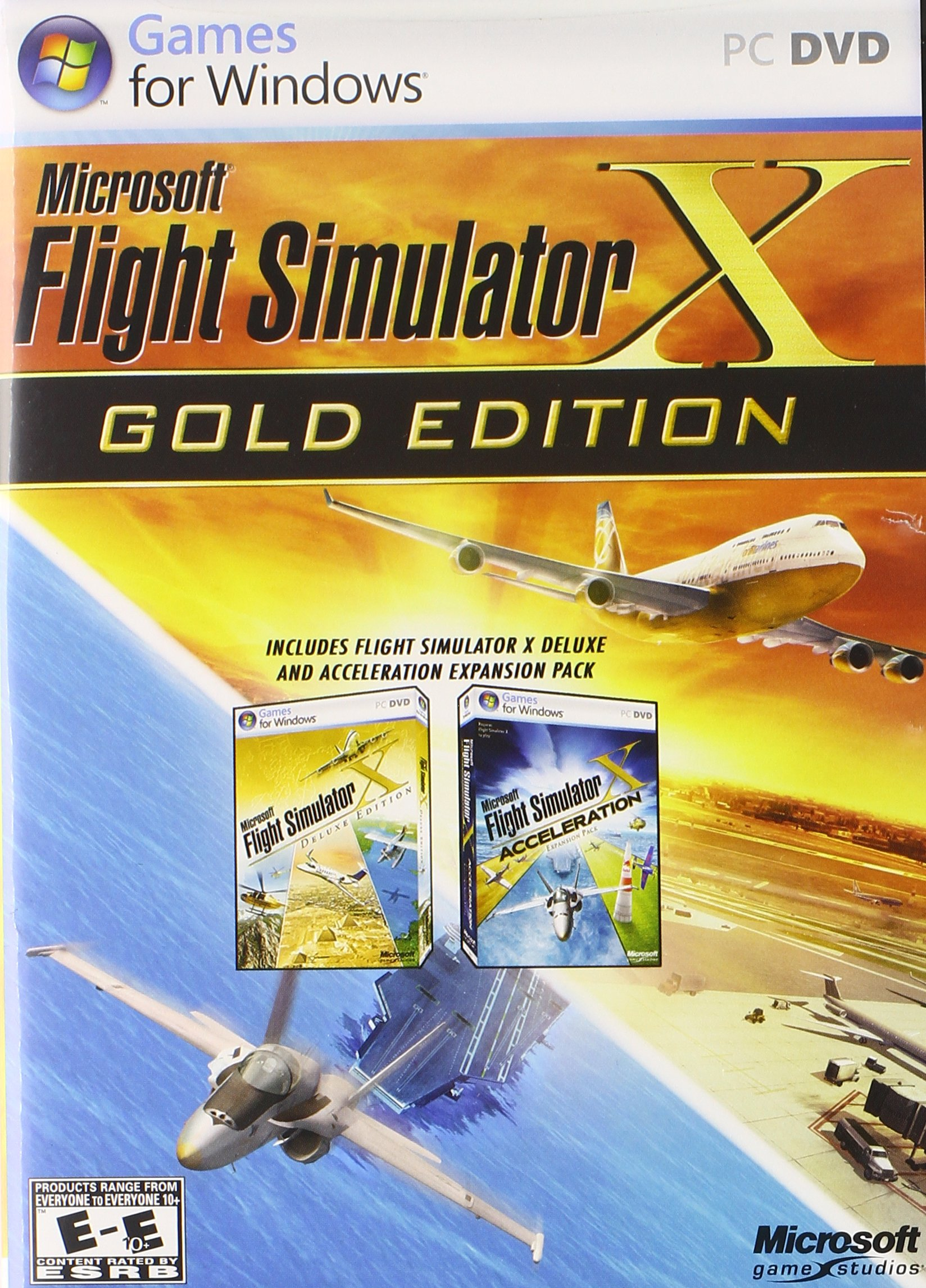 Amazon com: Microsoft Flight Simulator X: Gold Edition