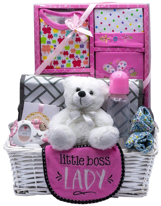 B073V65LC4 Nikki's New Arrival Baby Girl Gift Basket (Pink) 91Y24U6qX5L