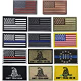 Creatrill Bundle 14 Pieces USA Flag Patch Thin Blue Line Tactical American Flag US United States of America Military Patches