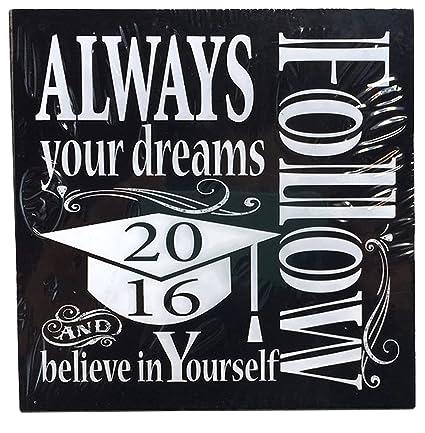 Amazon.com: Sentimental 2016 Graduation Plaques with ...