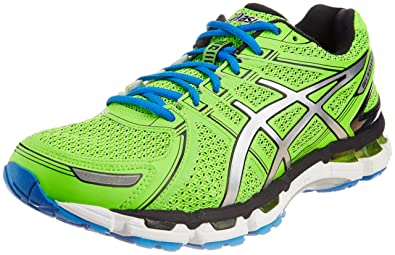 ASICS Men's Kayano-19 Neon Green Mesh Running Shoes - 12 UK