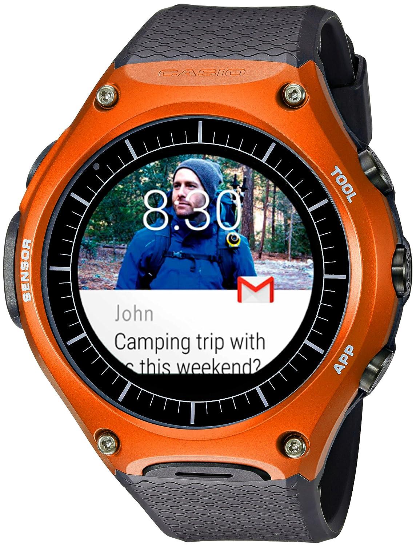 Amazon Com Casio Smartwatch Quartz Resin Sport Watch Color Black