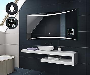 120 x 80 cm Illumination LED miroir sur mesure eclairage salle de
