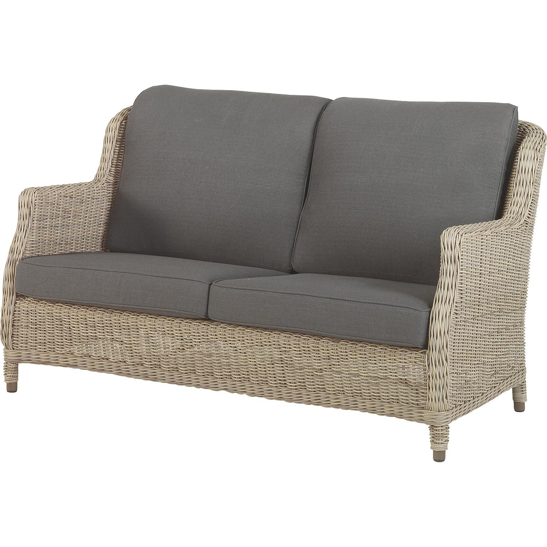 4Seasons Outdoor Brighton 2.5-Sitzer Loungesofa Polyrattan Pure inkl Kissen
