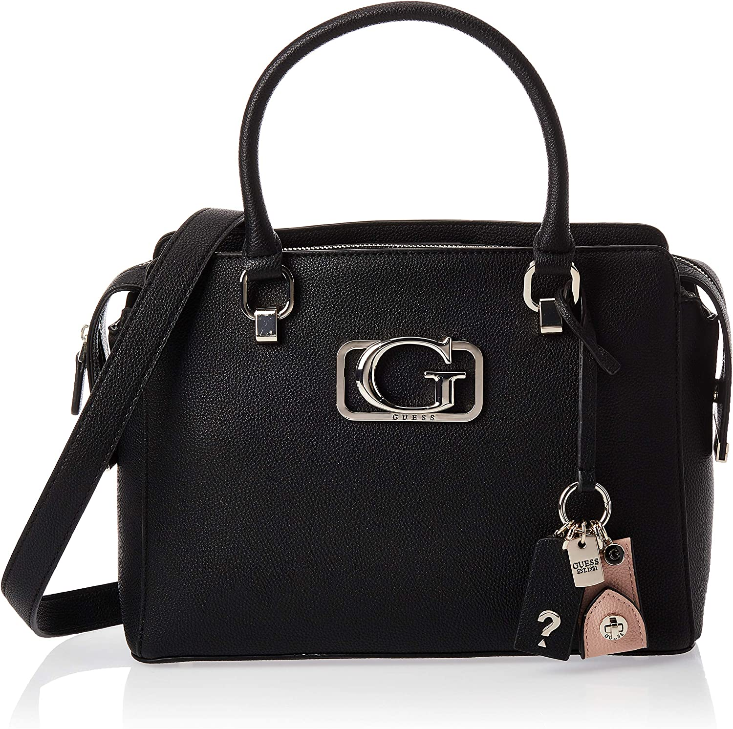 Guess Women's Annarita Girlfriend Satchel Top-Handle Bag Black
