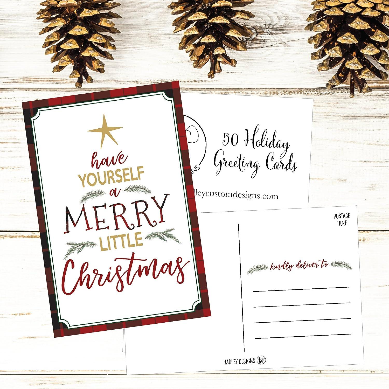 50 Tree Holiday Greeting Cards Cute Fancy Blank Winter Christmas Postcard Set Bulk Pack Of Premium Seasons Greetings Note Happy New Years Cards